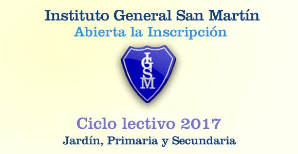 Abierta la inscripci n 2017 instituto general san mart n for Jardin inscripcion 2016